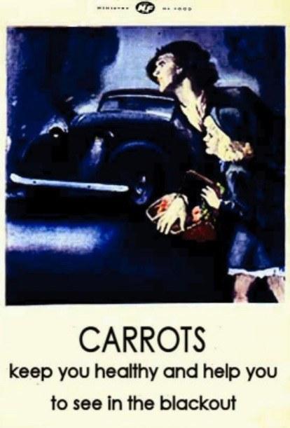 morkų reklama
