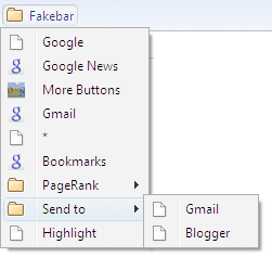 Project Fakebar: Improvising a Google Toolbar Substitute for