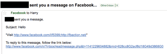 Facebook phish
