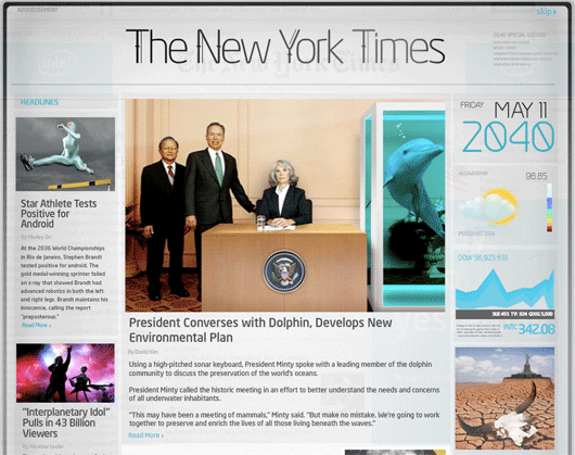 New York Times 2040