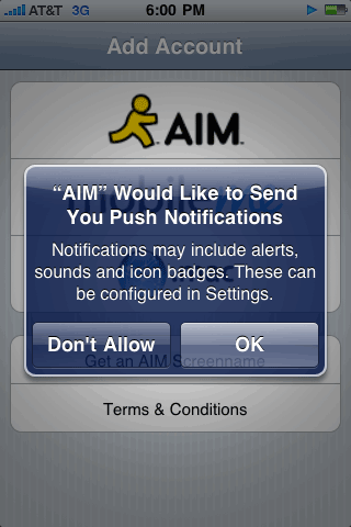 AIM Push Notifications