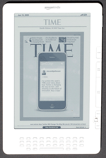 Time Magazine Cover on Kindle