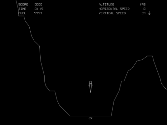 Atari's Lunar Lander Arcade Game Screenshot