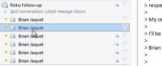 Outlook 2010 Converaation