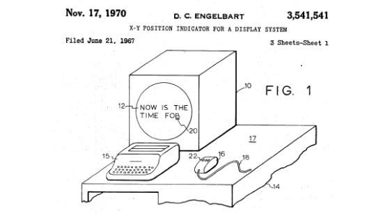 Douglas Engelbart's mouse patent