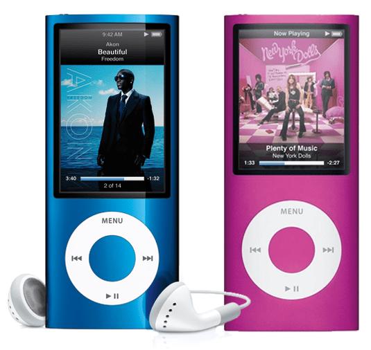 iPod Nano comparison
