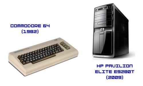 Commodore 64 (1982) vs. HP Pavilion Elite (2009)