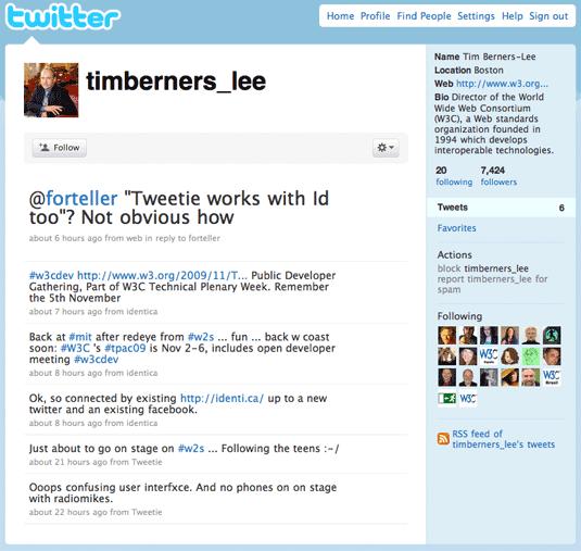Tim Berners-Lee Twitter