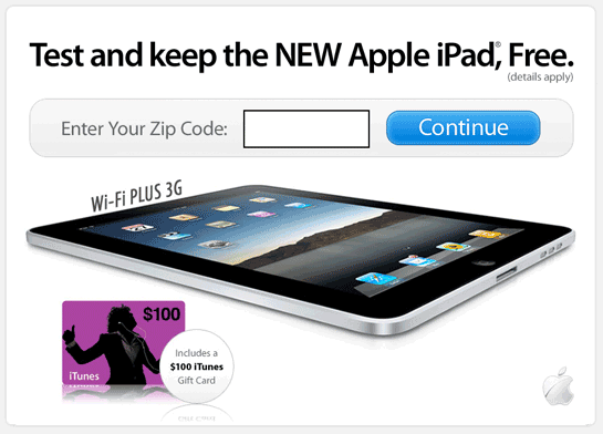 IPADS FOR FREE WITHOUT OFFERS