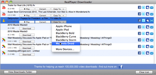realplayer sp for mac os x review