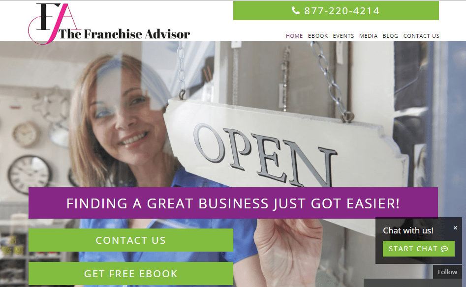 Looking for your next big thing? The Franchise Advisor Has Arrived!