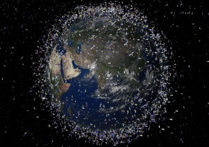 Satellites surrounding the earth