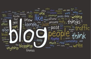 A chalkboard expression of what a blog might be