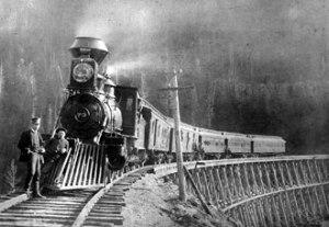 An early 1900's American train