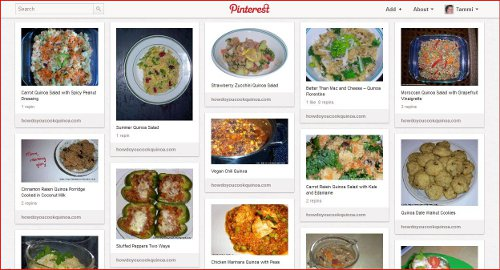 An example of an online pinboard