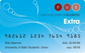 National Union of Students card