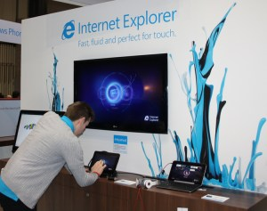 Microsoft IE at the Gadget Show