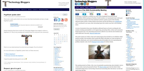 Two images of Technology Bloggers