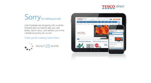 Tesco offline during Black Friday