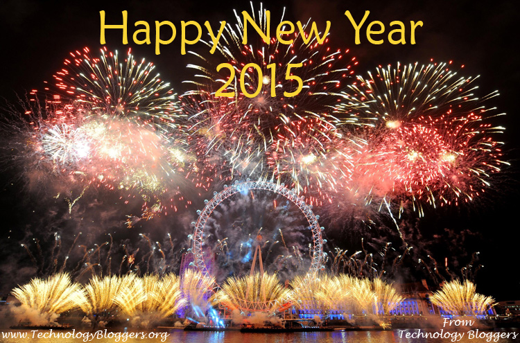 London Fireworks - New Year 2015