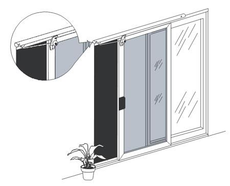 sliding screen automatic door closer