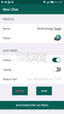 create a fake WhatsApp chat