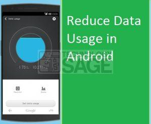 Reduce Data Usage in Android