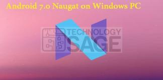 Install Android Nougat on Windows