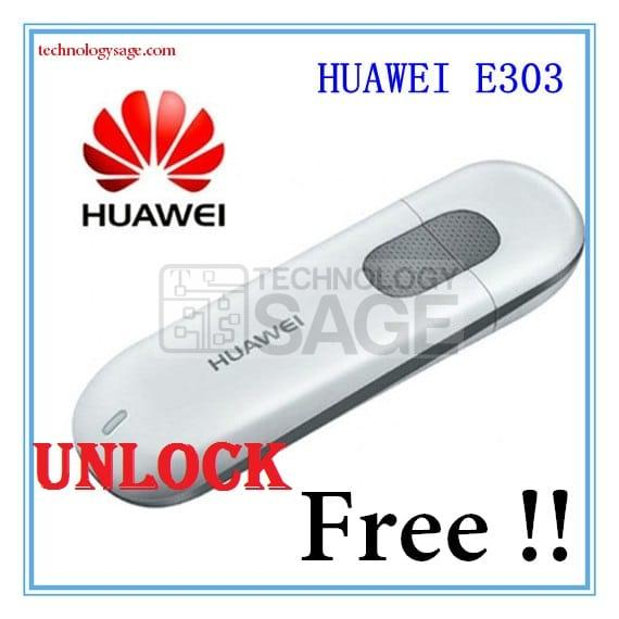 Unlock Huawei E303 Modem for Free Using Unlock codes