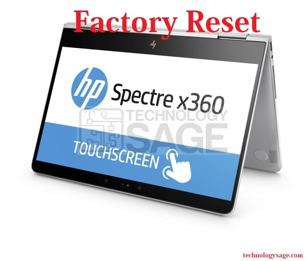 restart computer to factory settings hp