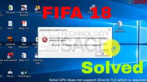 GPU does not support Directx 11.0 which is required