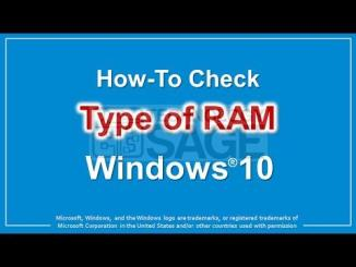 HOW TO CHECK RAM TYPE