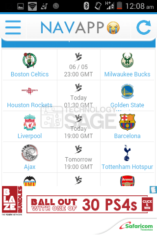 Livestream Football on Android Phone For Free Using