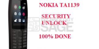 NOKIA TA1139 SECURITY UNLOCK DONE