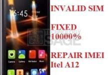 Itel A12 IMEI REPAIR FIX INVALID SIM