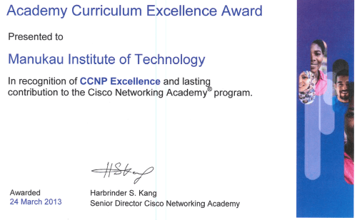 CCNP Excellence Award