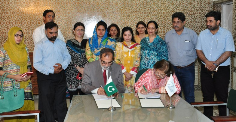 a memorandum of understanding (MoU) was signed between Fatima Jinnah Women University (FJWU), Rawalpindi and Institute of Policy Studies (IPS), Islamabad