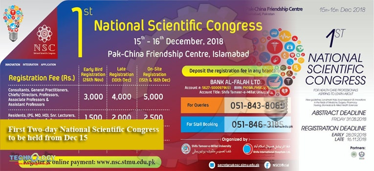 First Two-day National Scientific Congress to be held from Dec 15