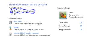Setup Parent Controls for Multiuser Environment in Windows 7
