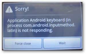 Avoid Force Close Error During Android Development
