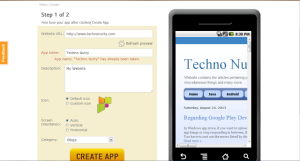 Create Android,Windows,Iphone App For Your Website Without Coding
