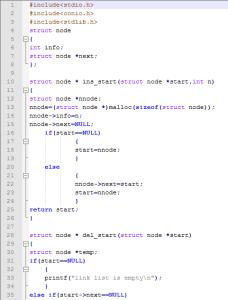 Singly LinkedList Implementation Using C Programming