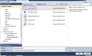 Create Windows Setup Using Visual Studio