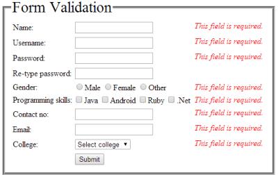 html-form-validation