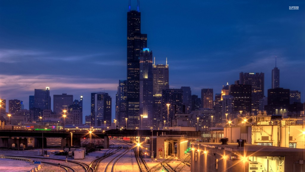 lights-on-the-railway-in-chicago