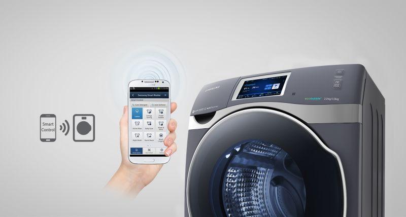 crystal blue la lavadora de samsung que puedes controlar con tu smartphone. Black Bedroom Furniture Sets. Home Design Ideas