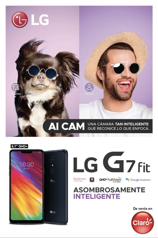 LG presenta el nuevo smartphone LG G7 FIT en exclusiva con Claro