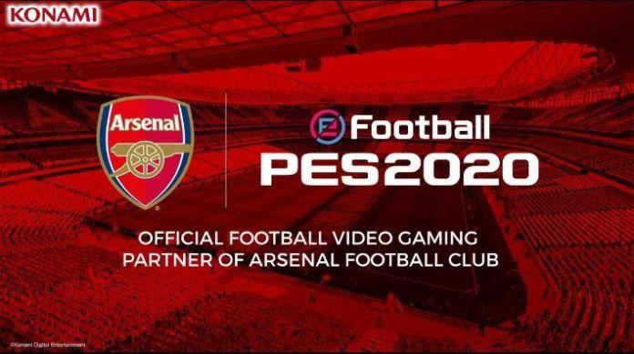 eFootball PES 2020 y Arsenal FC Partnership