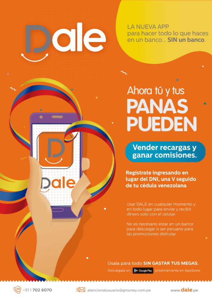 App Dale Monedero digital para peruanos y venezolanos