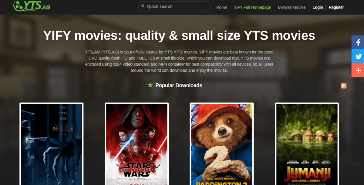 Top 40 YTS Proxy sites & YIFY torrents Mirrors to access YTS.AG [2018]